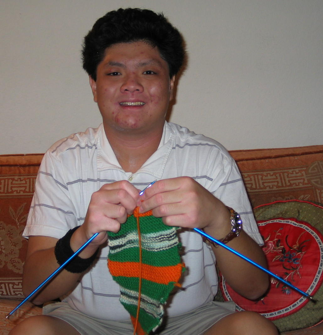 Matthew Yee, young autistic hobby knitter from Scottsdale, AZ