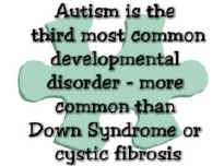 Autism is the third most common developmental disorder - more common than Down Syndrome or Cystic Fibrosis - Copyright (c) 1999-2005 Design by Cher